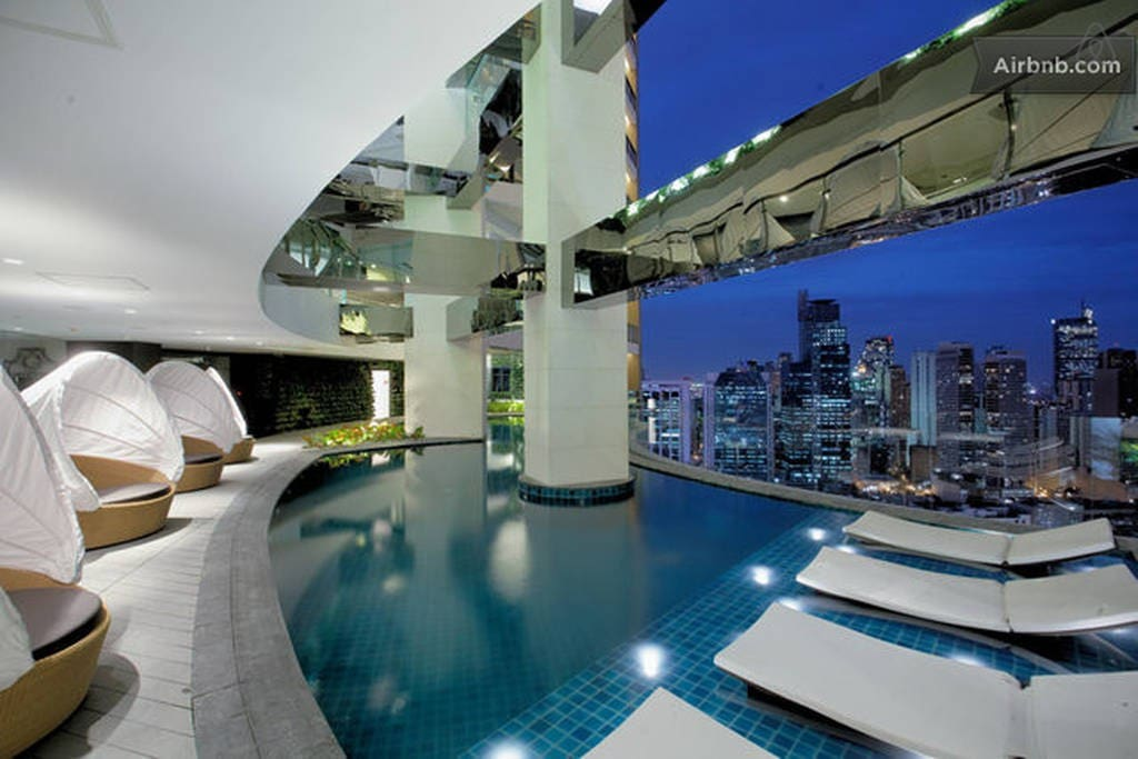 Skypark at 36th floor. Lagoon pool