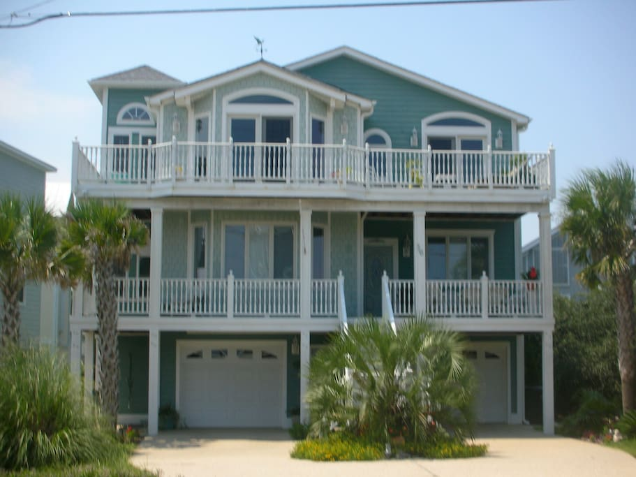 Oceanside , our home at Kure Beach offer great views of the ocean 100 yards away.