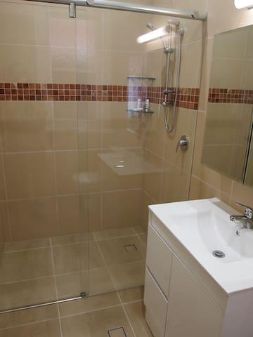 The new ensuite bathroom