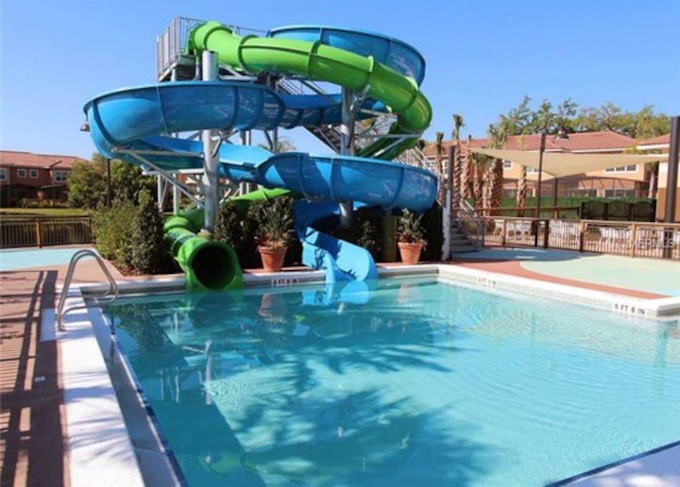 Children's Pool with Water Slide