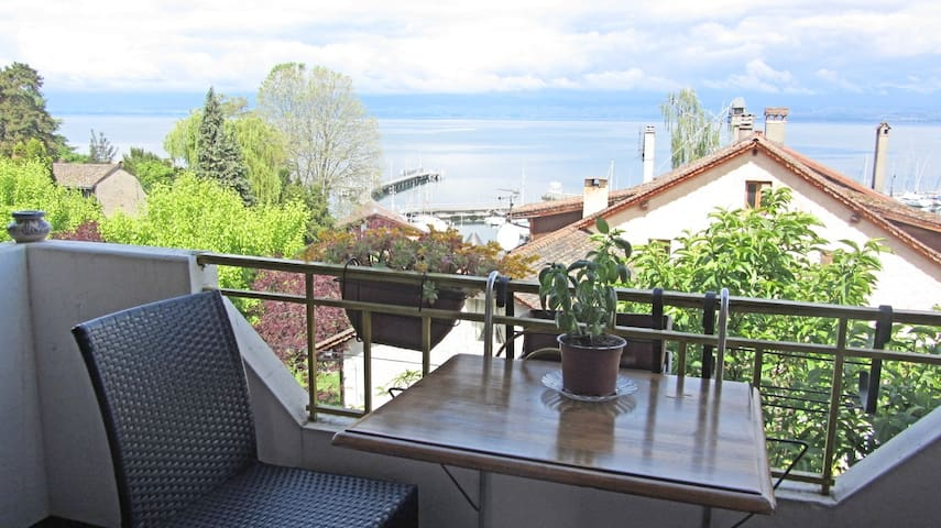 Sunny and cosy bedroom, lake view - Thonon-les-Bains - House