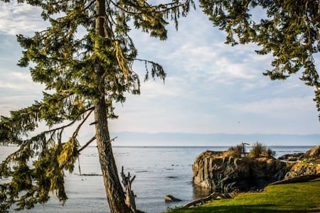 Private beach front cabin - Sooke