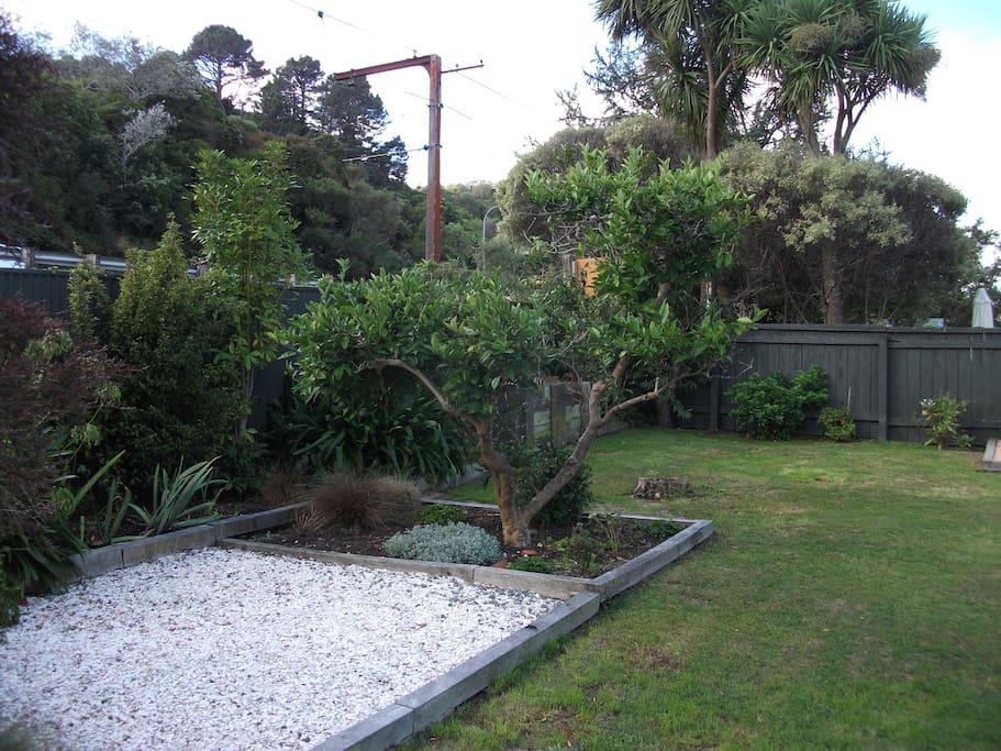 Large sunny back garden
