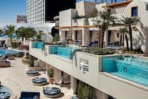 Enjoy the cabanas a  Kaos pool