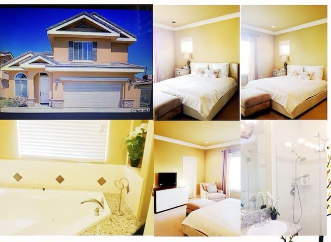 洛杉矶天普市舒适二楼主卧大套房King size bed 2米*1米8大床,欢迎入住!