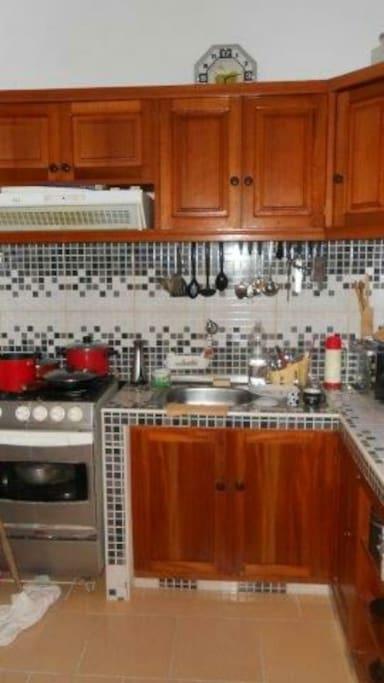 Cocina de la casa con acceso al turista