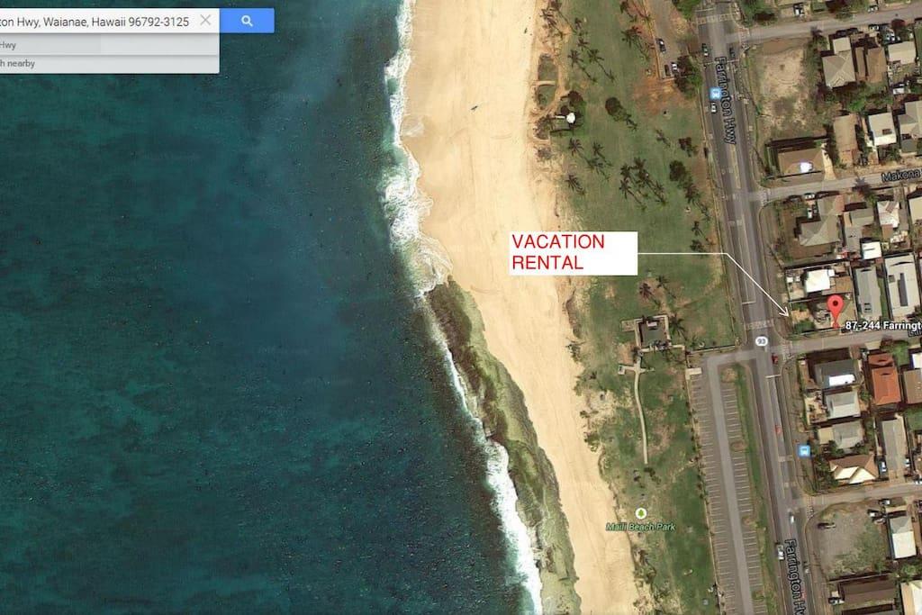 Aerial View-beach white sand
