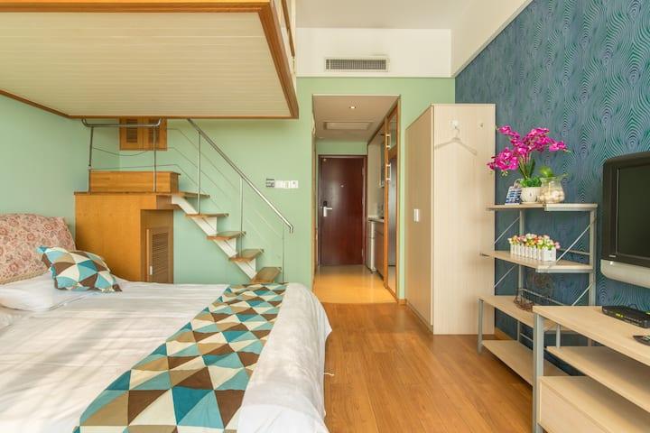 西湖音乐喷泉龙翔桥复式双床房