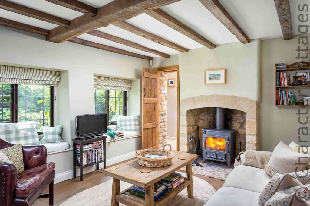 The 18th century cottage has an abundance of character features