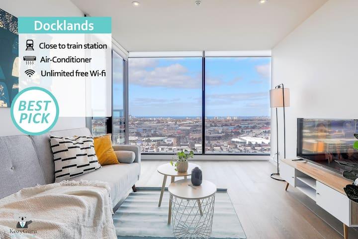 KOZYGURU | Docklands | Luxury Water View Apt | 1 BED | VDO915