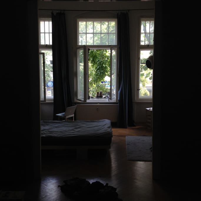 """the view from the """"livingroom"""" (sorry for the dark picture)"""