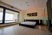 Master bedroom with bathroom and big terrace