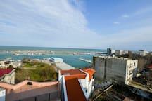 Fantastic view of the marina