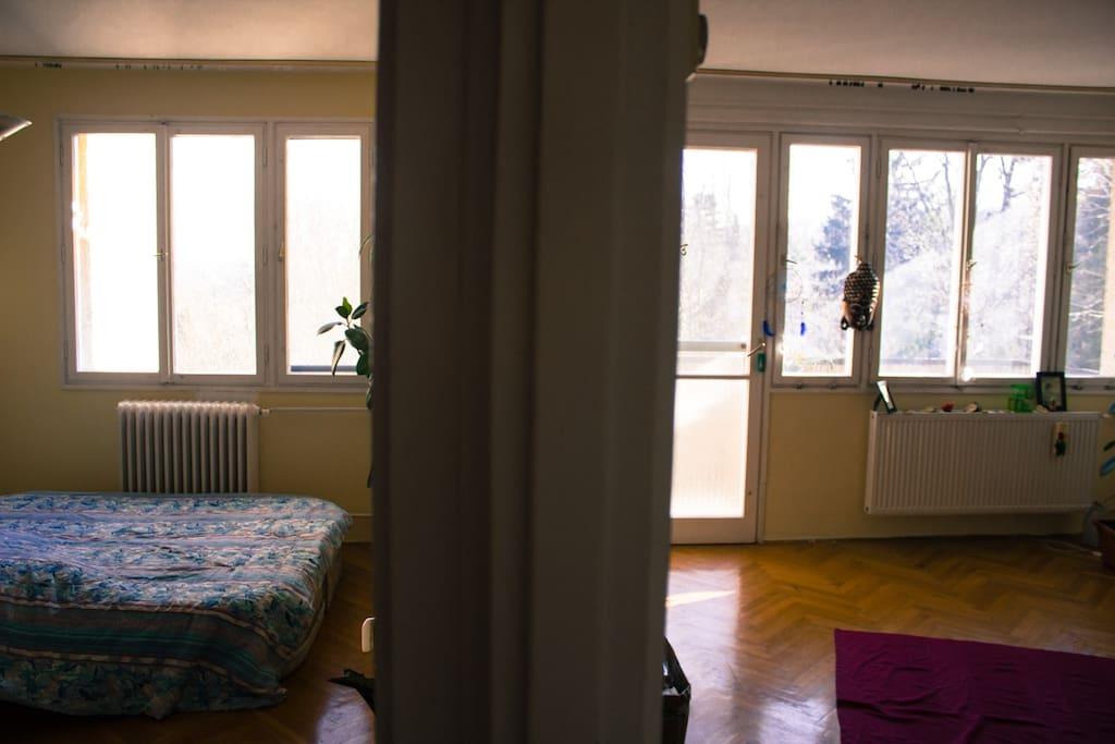 Both rooms of the flat - the left one is yours