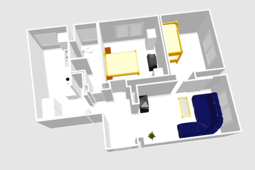 65qm wohnung salz zimmer dortmund wohnungen zur miete. Black Bedroom Furniture Sets. Home Design Ideas
