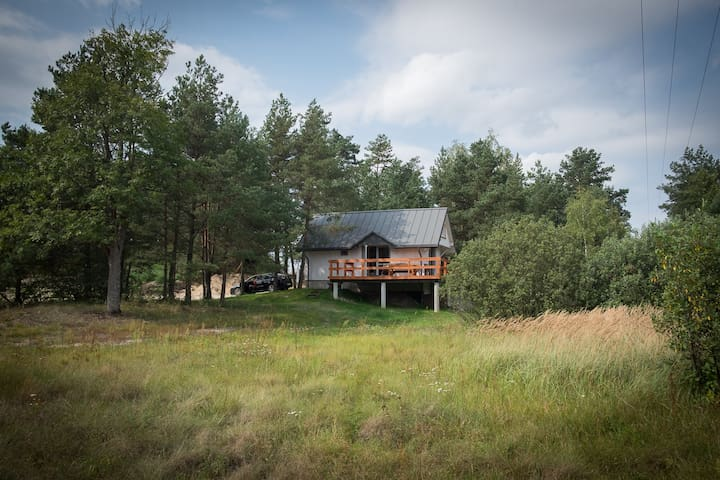 Las Hamernia's, dom pod lasem, Roztocze.