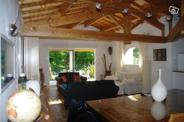 superbe villa typique avec piscine - Breuillet - วิลล่า