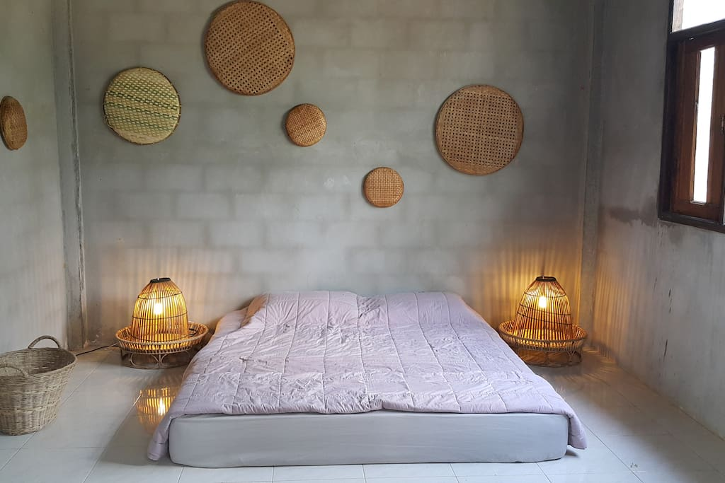 This will be your bed room. Simple like us !