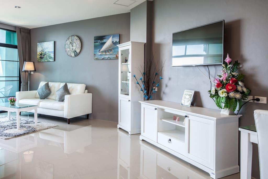 Living room in natural lighting