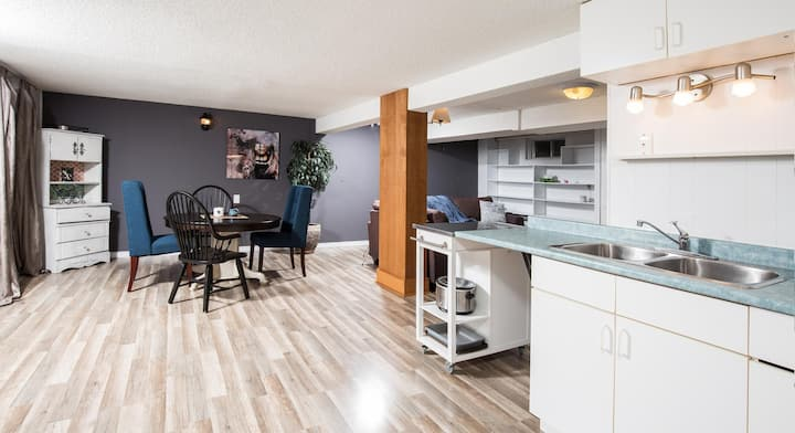 Very large, bright clean Basement Suite
