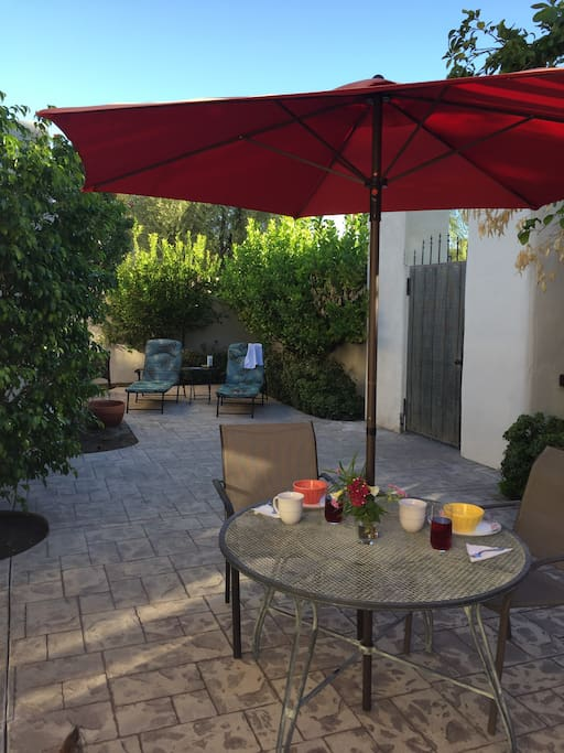 Enter your private patio for outside dinning and sun bathing