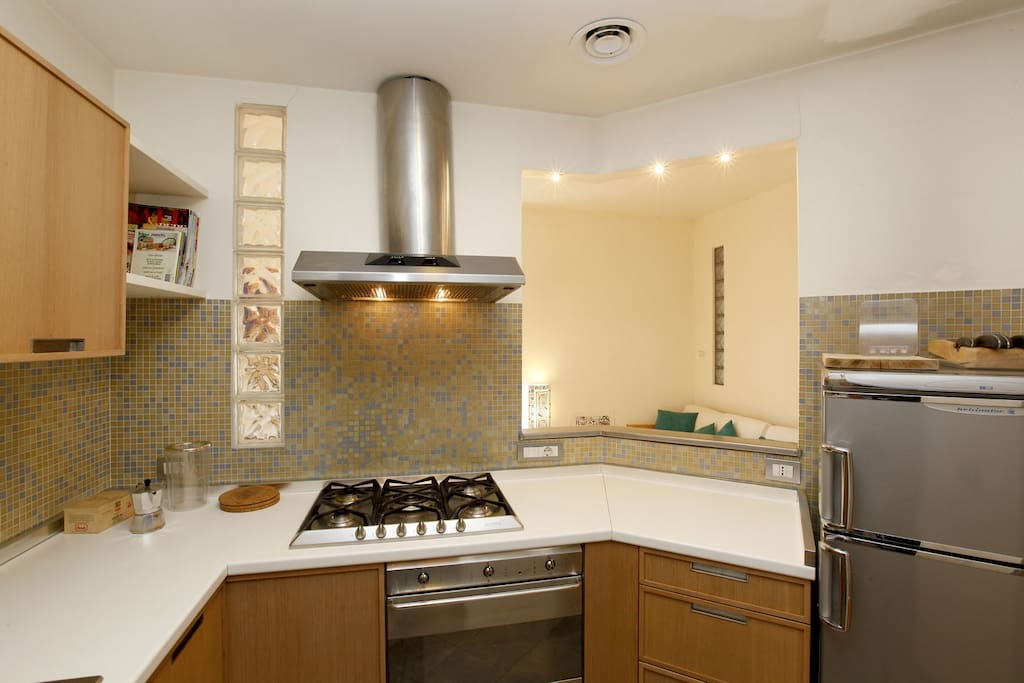 The kitchen of the self catering apartment