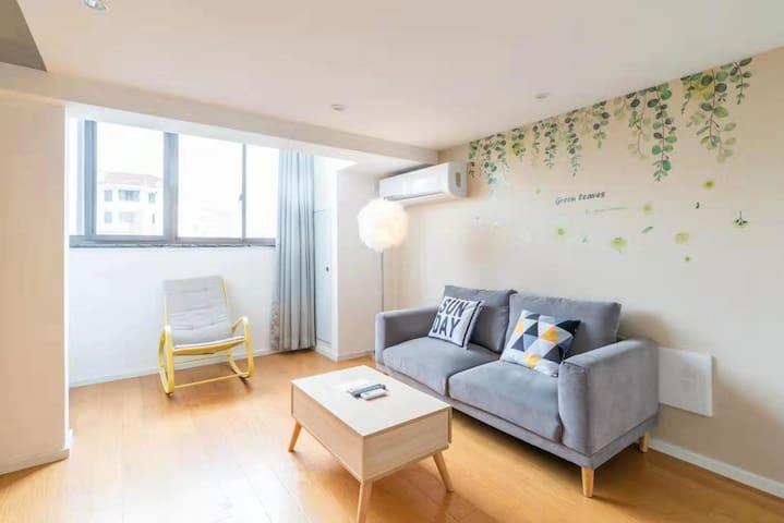 新国际博览中心地铁口三室两卫loft复式公寓可住2-6人