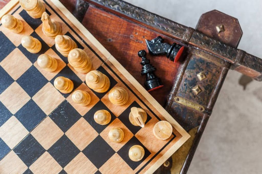 If you want to play chess, watch a movie or play cards :) everything is provided