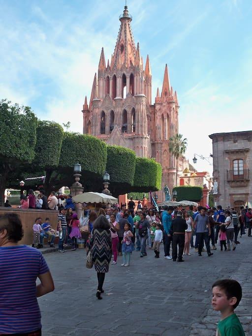 The Jardin in Centro, the heart of San Miguel de Allende.