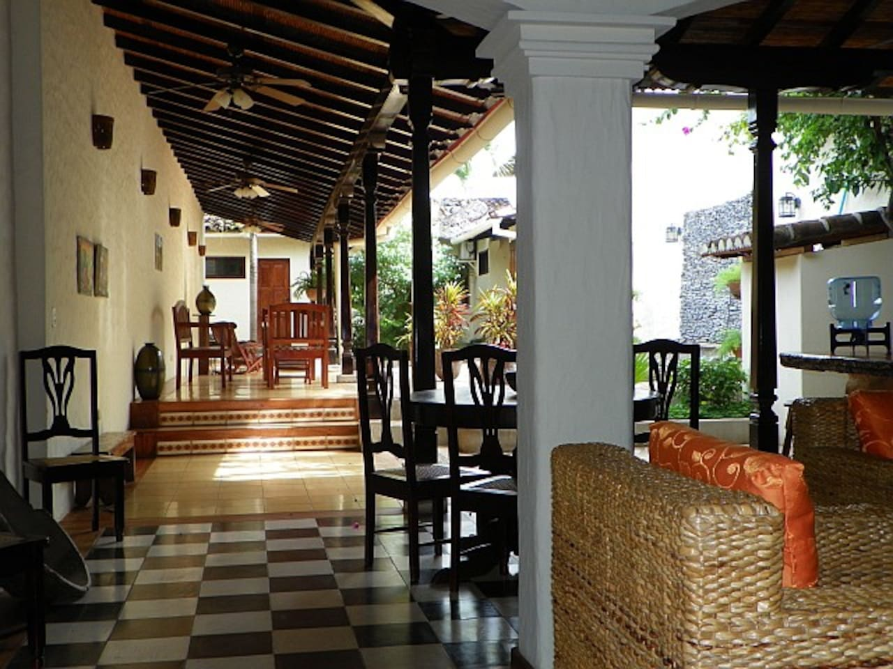 The interior of the house with great living space, indoor gardens and a comfortable patio and pool area to relax with friends or family.