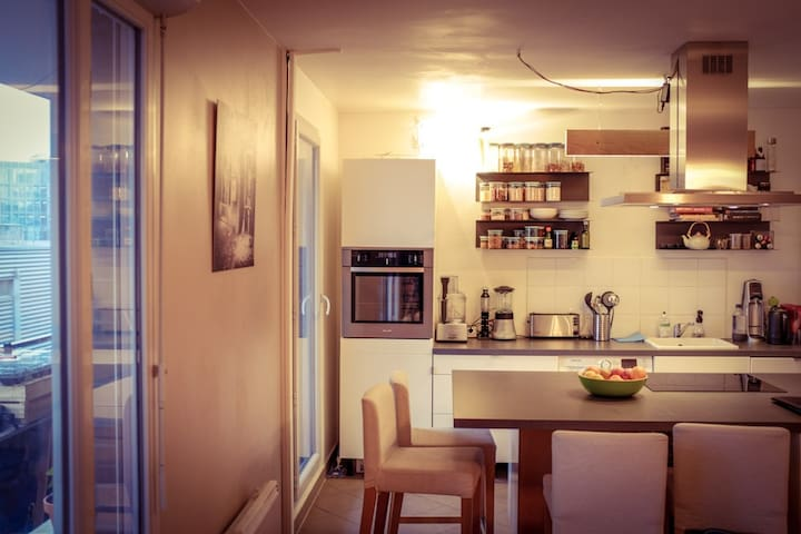 Charming 2 BR, 2min walk from Paris - Pantin - Appartement