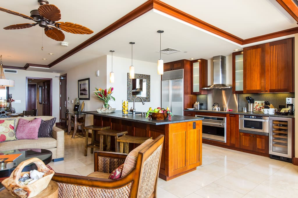 Living Room and Kitchen Areas Adjacent Lanai