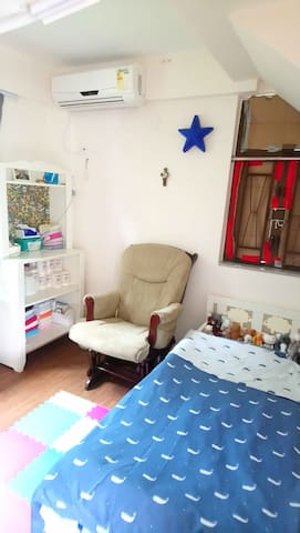 Upstairs - child's room with additional floor mattress available