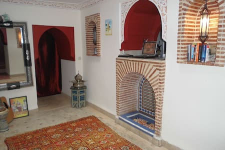 Typical rooms in  Marrakech Medina