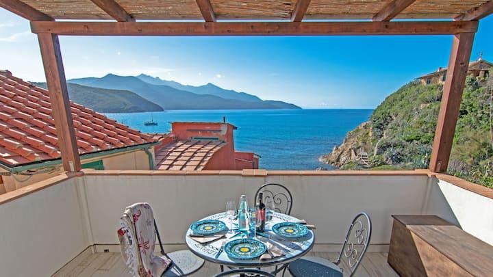 Suite  Lia sul mare a  Scaglieri - Terrazza