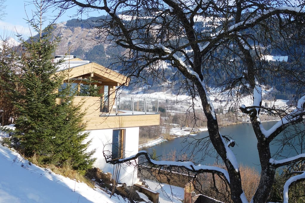 chalet middle in nature