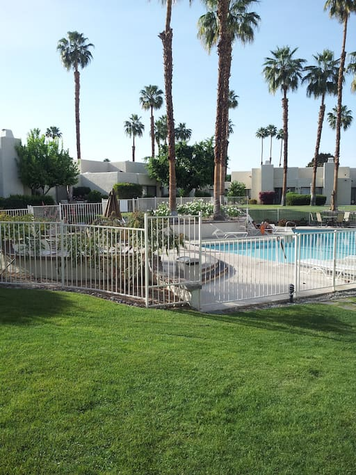 Just steps away from the pool allows you to cool off during the warmer months.