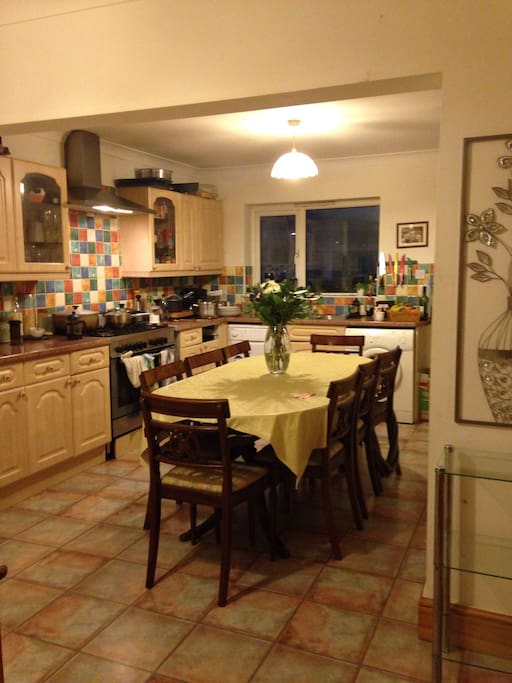 Large well equipped Kitchen leading to conservatory and Garden.