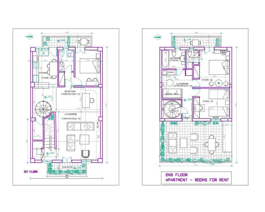 The apartment's blueprints.
