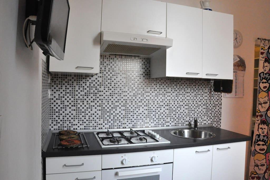 cucina con forno