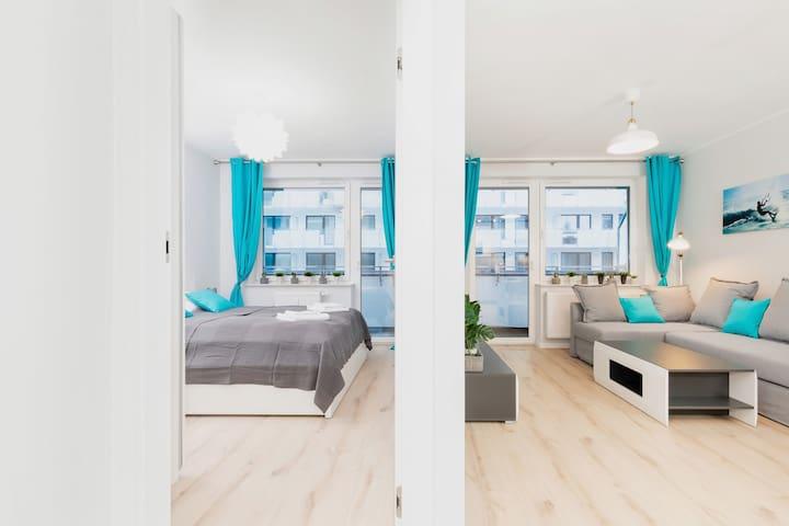 Beautiful Apartment with balcony ☼ Bliżej Morza ☼