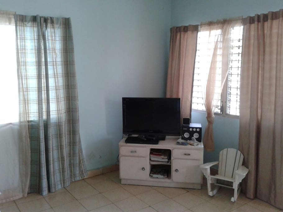 Living room (shared) with TV, DVD Player (region 4 & region free DVDs)