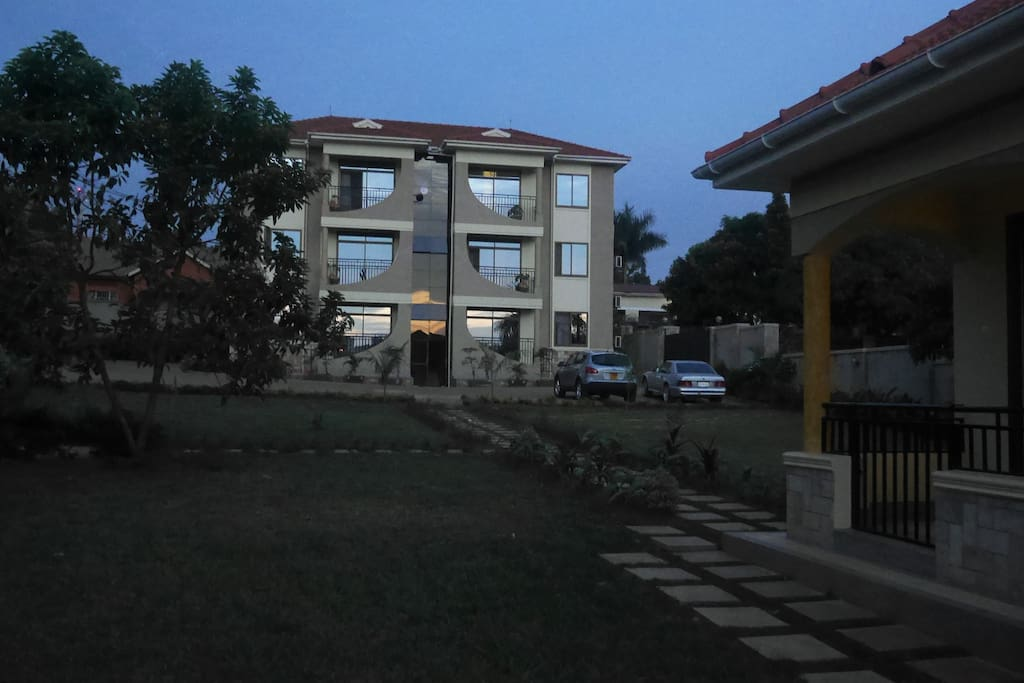 The Garden Apartment is set apart from the main block.