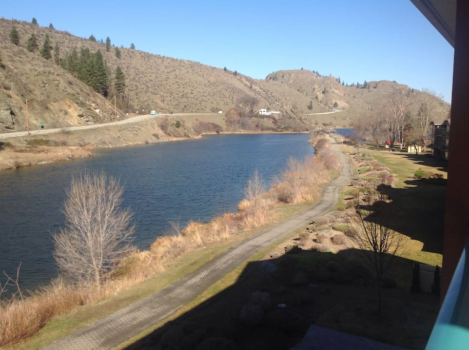 Okanagan River and Kettlle Valley walking and biking trail.