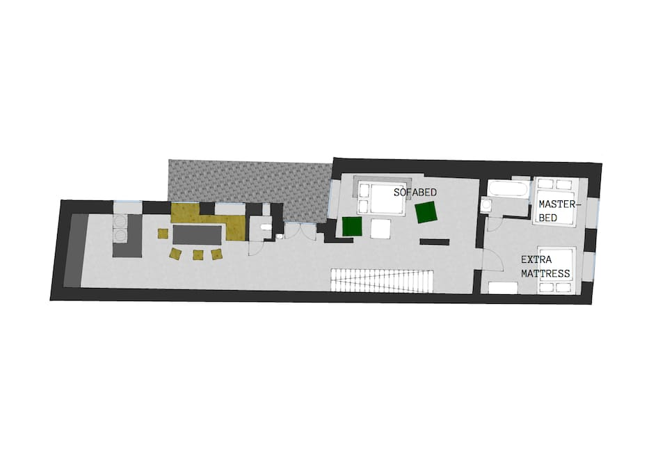floor plan with extra beds / Grundriss mit extra Betten