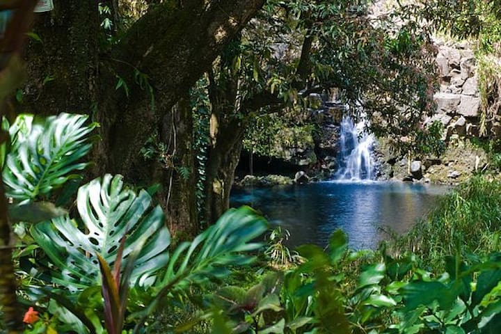 HEAVENLY PARADISE, PANORAMIC OCEAN VIEWS,WATERFALL - Haiku-Pauwela