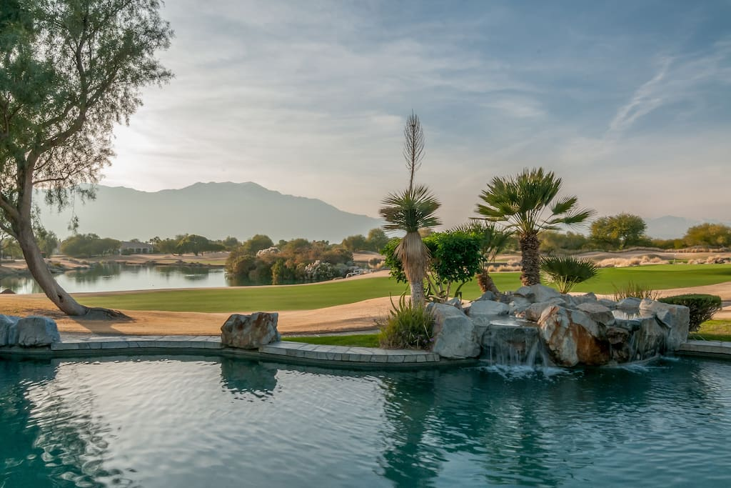 Former model home is located on the 9th hole of the prestigious Gary Player Westin Mission Hills Golf course in Rancho Mirage