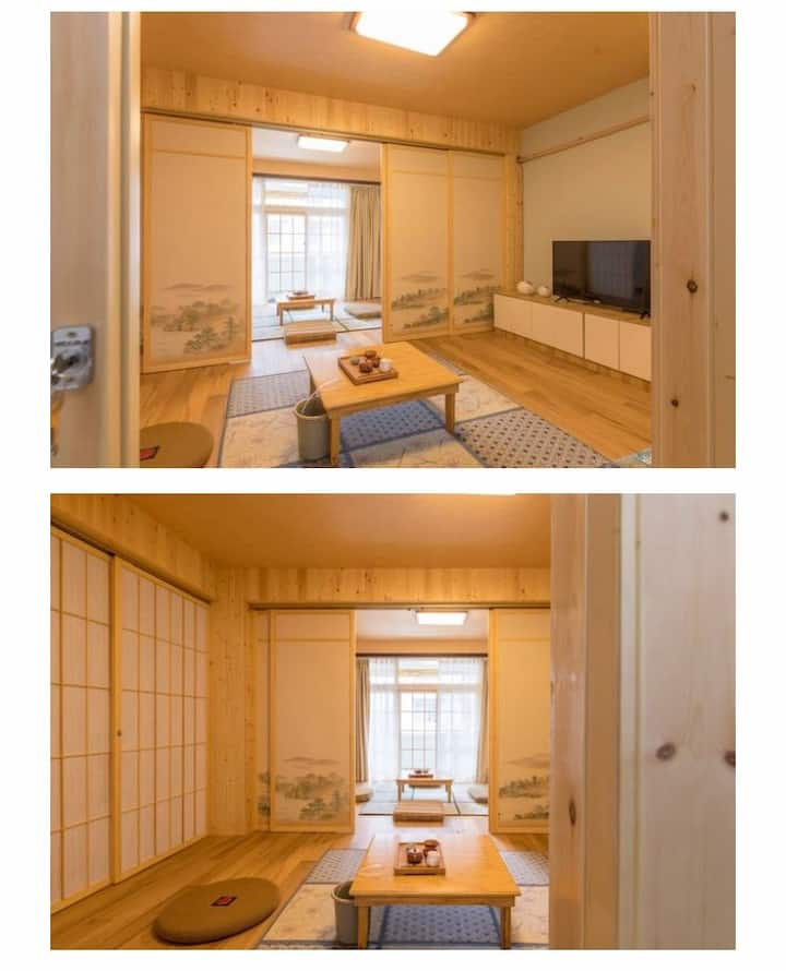 日式榻榻米公寓临近南湖公园和茶花园公园的养生民宿