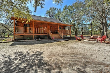2BR Colonel's Island Cabin on 3 Woodland Acres - Midway - Srub