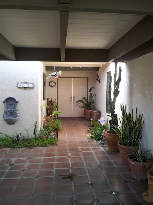 A beautiful entry way leads you to the comforts this home has to offer.